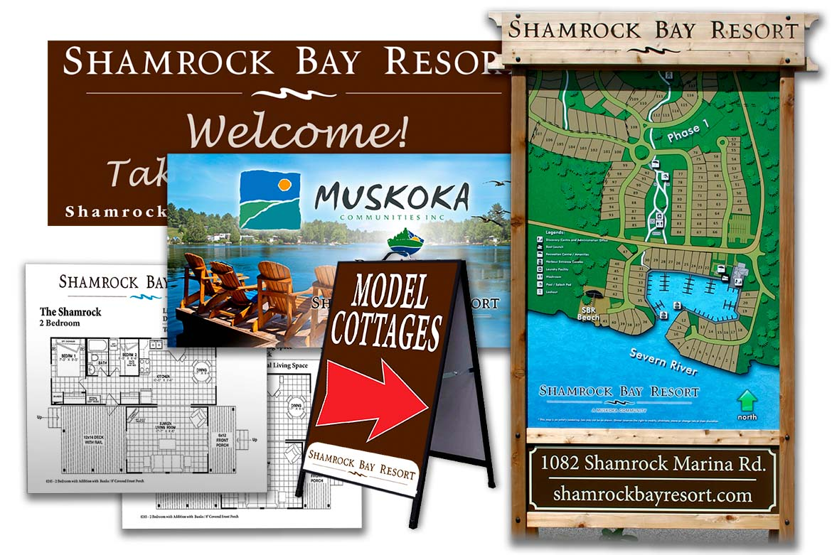 Shamrock Bay resort branding project