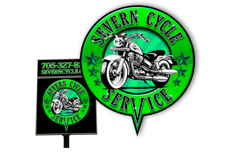 Severn cycle logo design