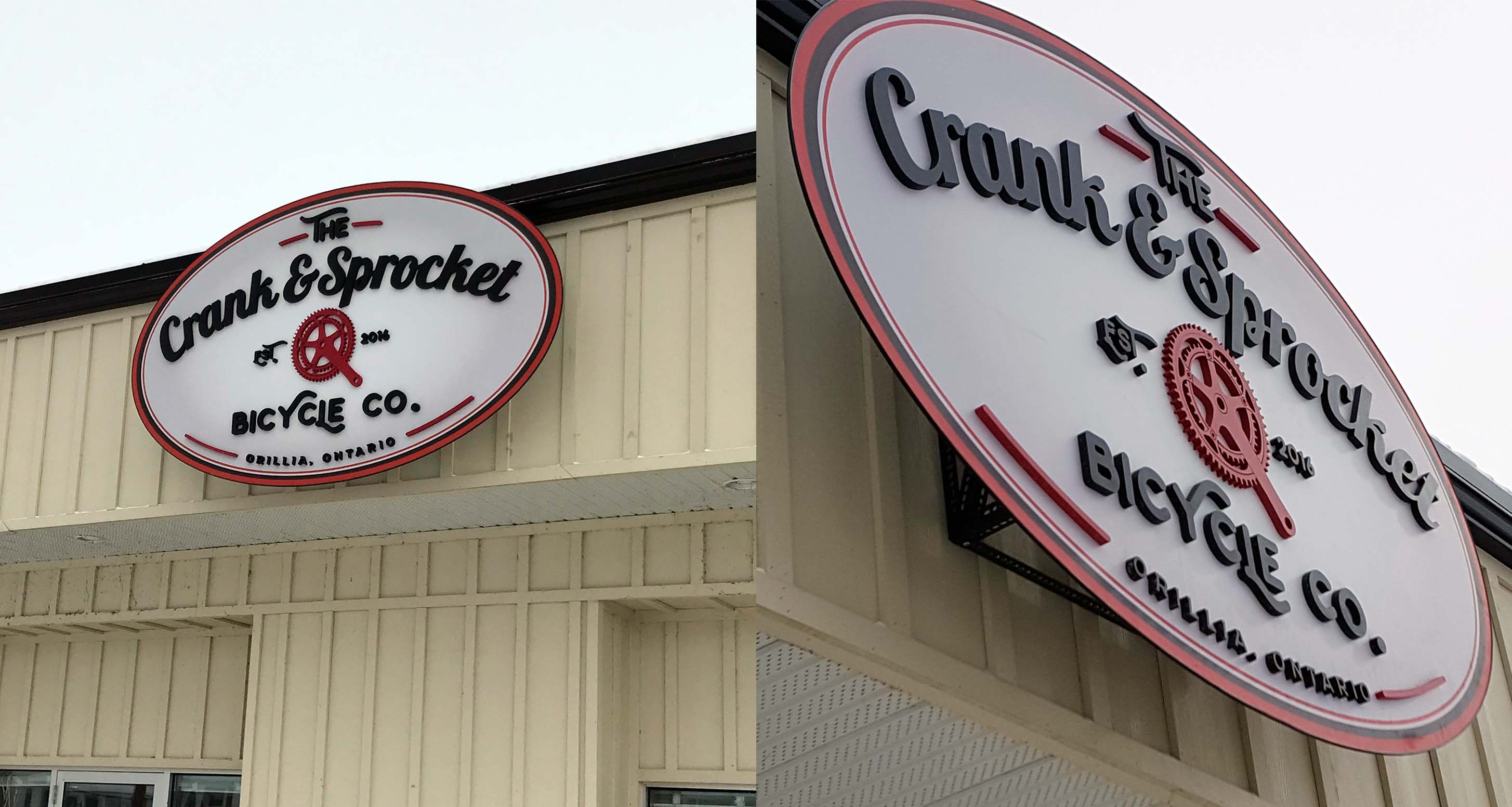 Crank & Sprocket 3D sign