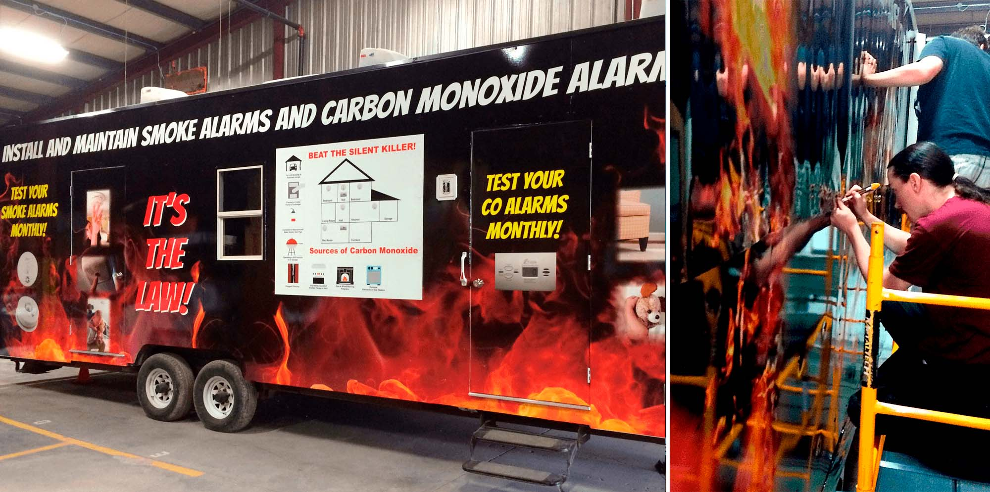 Kiwanis fire safety trailer